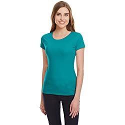 Jealous 21 Women's Body Blouse Top (JU3723_Green _34)