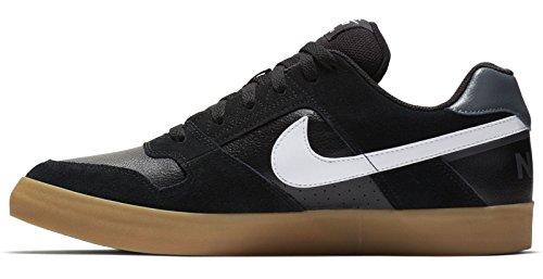 Nike Herren Skateboard Delta Force Vulc Fitnessschuhe Mehrfarbig (Black/White Gum Ligh 005) 42.5 EU