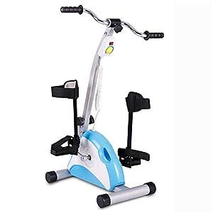 Riabilitazione allenatore motorizzato a pedali e fisioterapia elettronica per esercizi di recupero di gambe e ginocchia per disabili, disabili e ictus sopravvissuti,B