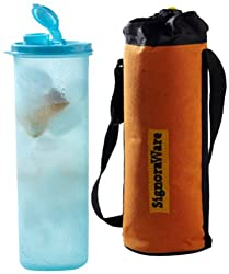 Signoraware Sporty Water Bottle with Bag, 890ml, Blue