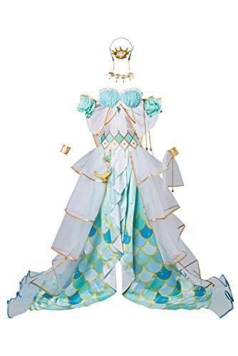 Für Kostüm Erwachsene Kanan - LoveLive Mermaid Festa Kanan Matsuura Kleid Cosplay Kostüm Erwachen Damen XS