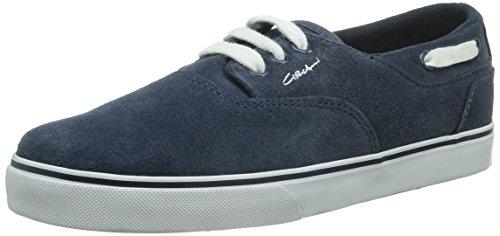 C1RCA - Scarpe sportive - Skateboard VALEO, Unisex adulto, Blau (NYWH/ NAVY WHITE), 44