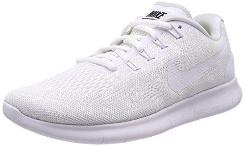 Nike Herren Free RN 2017 Traillaufschuhe, Weiß (White/White/Black/Pure Platinum 100), 38.5 EU