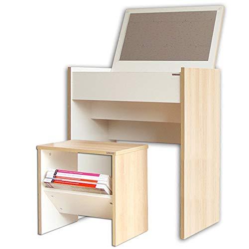 WSR Lazy Table - Dressing Table aus Holz und gepolsterte Hocker mit ()