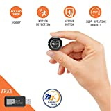 Mini Hidden Camera Yilutong HD 1080P Spy Secret Security Camera Nanny Cam Portable Video Recorder with Night Vision,Motion Detection and Loop Recording for Home Car (Support 32G SD card,NOT INCLUDE)