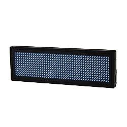 SODIAL Programmierbare LED Digitales Scrollen Nachrichtenname Tag-ID-Badge (11 x 44 Pixel) (Blau)