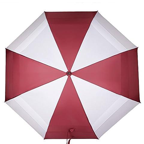 Koler Golf Umbrella Windproof 62 Inch Oversized Double Vented Canopy Auto Open Waterproof & Sunproof Extra large Stick Umbrellas (red-white)