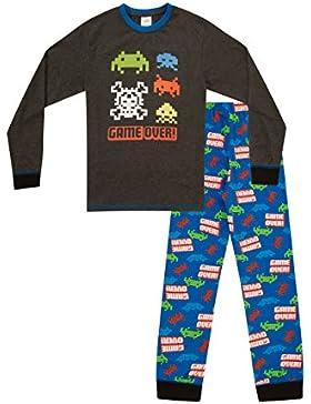 thepyjamafactory Game Over de Boys larga pijama 8A 15años AOP de juegos de ordenador