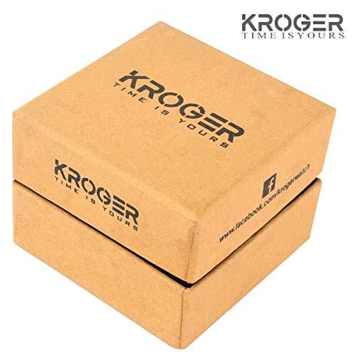 K-KROGER Stainless Steel Black Dial Men's & Boys Watch (KRG1131)