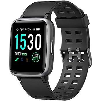 YAMAY Smartwatch, Impermeable Reloj Inteligente con Cronómetro, Pulsera Actividad Inteligente para Deporte, Reloj de Fitness con Podómetro Smartwatch ...
