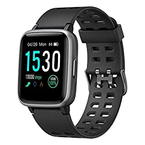 YAMAY Smartwatch, Impermeable Reloj Inteligente con Cronómetro, Pulsera Actividad Inteligente para Deporte, Reloj de Fitness con Podómetro Smartwatch Mujer Hombre niños para Xiaomi HuaweiI Teléfono 11