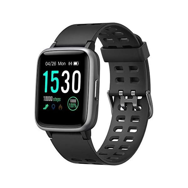 YAMAY Smartwatch, Impermeable Reloj Inteligente con Cronómetro, Pulsera Actividad Inteligente para Deporte, Reloj de… 1