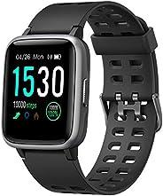YAMAY Smartwatch, Impermeable Reloj Inteligente con Cronómetro, Pulsera Actividad Inteligente para Deporte, Re