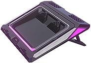 وسادة تبريد للكمبيوتر المحمول ذات منفاخ مزدوج من IETS GT300 لأجهزة الكمبيوتر المحمول مقاس 14-17 بوصة، وسادة تب