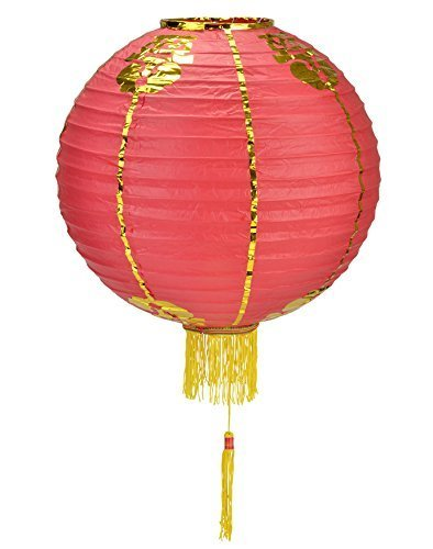 Quasimoon 12 Traditional Chinese Lantern w/Tassel by PaperLanternStore