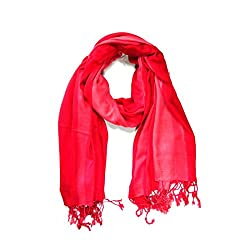 Stylezee Ombre Stripes in Beautifully Blended Colors Shawls & Stole (Red::Pink)