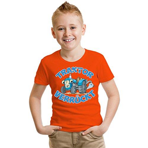 Verrückte Jungs T-shirt (Kinder T-Shirt TRAKTOR verrückt Größe 98 - 164)