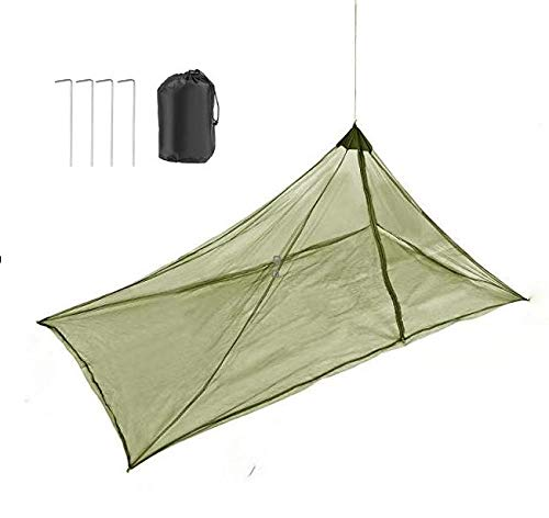 NIBESSER Camping Moskitonetz für 1 Person Outdoor Polyester Triangle Mückenschutz für Reise und Outdoor,Kompakt und Leicht