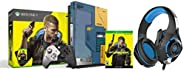 Xbox One X Cyberpunk 2077 Limited Edition Bundle (1TB)&Cosmic Byte GS410 Headphones with Mic and for PS4,
