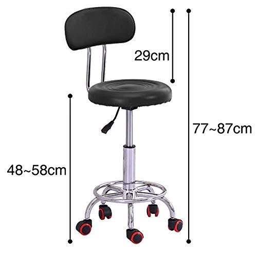 ZLL Home Stuhl Hocker Klappstuhl-Beauty Spa Salon Stuhl mit Rückenlehne Gaslift für Friseur Friseur Tattoo Massage Hocker,Blau,