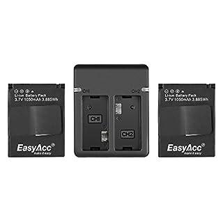 EasyAcc® 2 x 1050 mAh GoPro Hero 3 3+ Akku und Schnelladegerät Kit für GoPro Hero3, HERO3+ Kamera und GoPro AHDBT-201, AHDBT-301, AHDBT-302, AHBBP-301, ACARC-001, AWALC-001[12 Monate Garantie] (B00KQA0SVK) | Amazon price tracker / tracking, Amazon price history charts, Amazon price watches, Amazon price drop alerts
