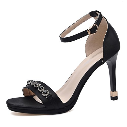 Chaussures femme HWF Sandales Talons Stiletto Femme Summer Sexy Simple