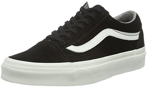 Vans Old Skool, Sneakers Basses Mixte Adulte, Noir (Varsity Suede), 35 EU