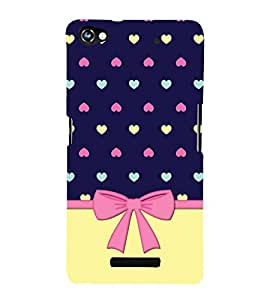 Fiobs Designer Back Case Cover for Micromax CanvasHue2A316 (Heart Red Love Lines Pattern Design Lovely)