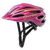 Cratoni Kinderhelm Pacer jr. Pink Gelb Matt,XS-S = 50-55 cm Fahrradhelm (Pink-Yellow, S-M = 54-58 cm)
