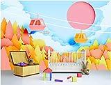 YUANLINGWEI Benutzerdefinierte Wandbild Tapete Niedlich Und Warm Park Baum Muster Kinderzimmer Wand Dekoration Wandbild Tapete,100Cm (H) X 200Cm (W)