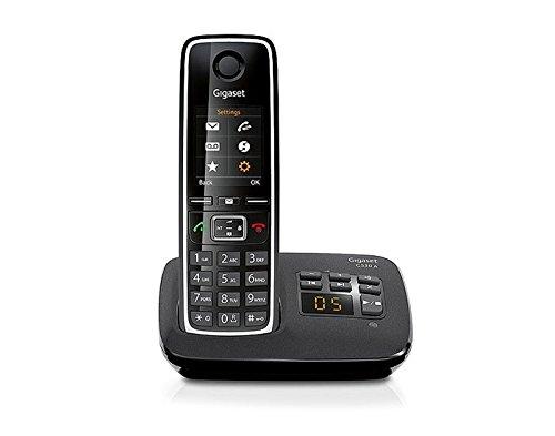 Gigaset C530A - Teléfono inalámbrico con contestador y pantalla, color negro [Importado de Francia]