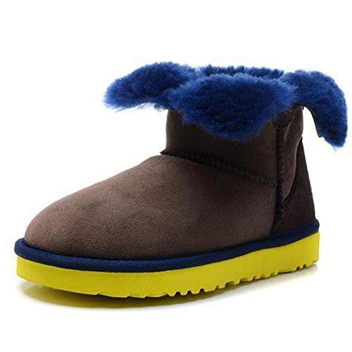 Vogstyle Damen Classic Schuhe Winter Regen Schnee Stiefel Art 1 Braun RMevv