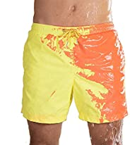 Honorall Color Changing Swimming Shorts Color Changing Swimming Trunks for Men Temperature-Sensitive Color-Cha