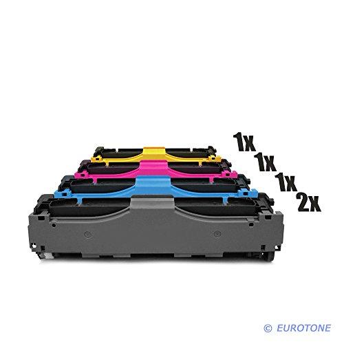 Eurotone Toner mit 50{bf983e9da339a59f5e9248713831476efe44a56495e570550bcc571b62643ad4} mehr Leistung remanufactured für Color Laserjet Pro MFP M470 Series M476dn ersetzen HP CF380-83A 2X BK 1x C 1x Y 1x M im Bundle