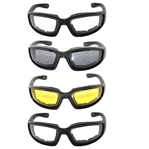 Lot de 4 lunettes de moto Ruesious 2