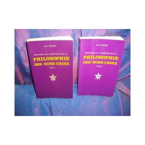 Max heindel philosophie des rose croix 2 volumes 1985