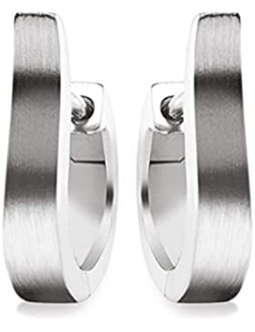 Klassische Creolen Silber 925 Ohrringe Klappcreolen inkl. Luxusetui + Ohrstecker Silbercreolen Kreolen Ohrschmuck...