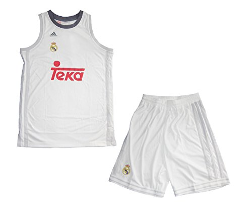 adidas Real Madrid Basketball Kinder Trikot Set Minikit 2015/16, Weiß/Gelb/Rot, 176, 4056558534777