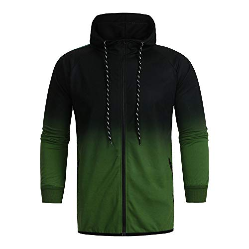Zegeey Herren Sport schlank Herbst Winter Packwork Print Sweatshirt Top Hose Sets Sportanzug Trainingsanzug Outwear