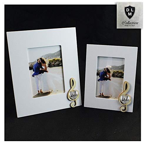 Dlm30012 bomboniera portafoto cornice quadretto legno chiave di violino cuore per santa cresima (22_x_17_cm)