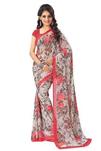 Vaamsi Chiffon Saree with Blouse Piece (RC3140_Pink_One Size)