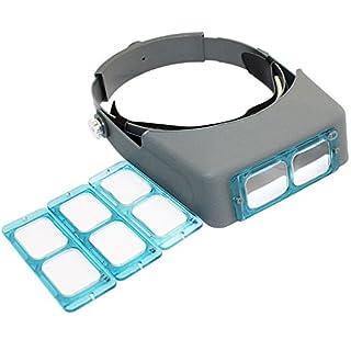 cnmade 1,5x 2x 2,5x 3,5x Double Lens Head-mounted Haarband Lesen Lupe Lupe Kopf tragen 4Vergrößerungen