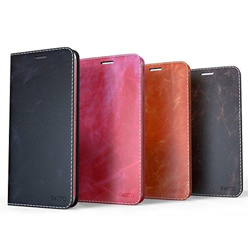 iPhone 7 Plus Fall, Cellto [Glux] Tagebuch Case Premium PU-Leder-Qualitäts-Mappen-Abdeckung mit Kartenslots für Apple iPhone 7 Plus - Brown Schwarz
