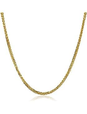 14 Karat 585 Gold Diamantschliff Spiga Weizen Gelbgold Kette - Breite 2 mm - Länge wählbar