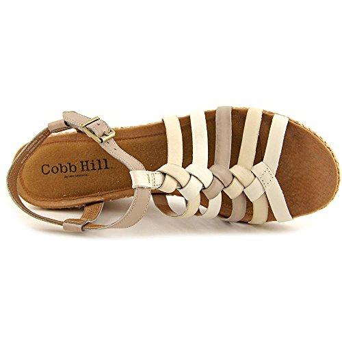 Cobb Hill by New Balance Michelle Femmes Cuir Sandales Compensés White Mult