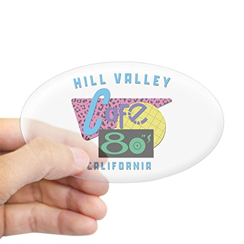 CafePress Cafe 80'S Oval Car Sticker