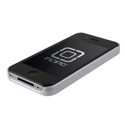 Incipio INCIPH512FR Feather Coque pour iPhone 4/4S Matte Noir Blanc Perle Métallique