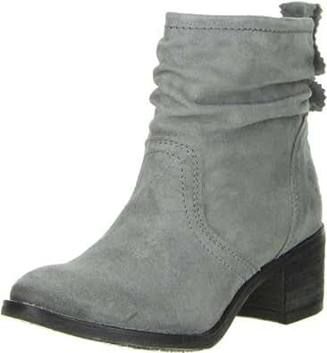 BULLBOXER Damen Stiefeletten Echtleder grau, Größe:40;Farbe:Grau