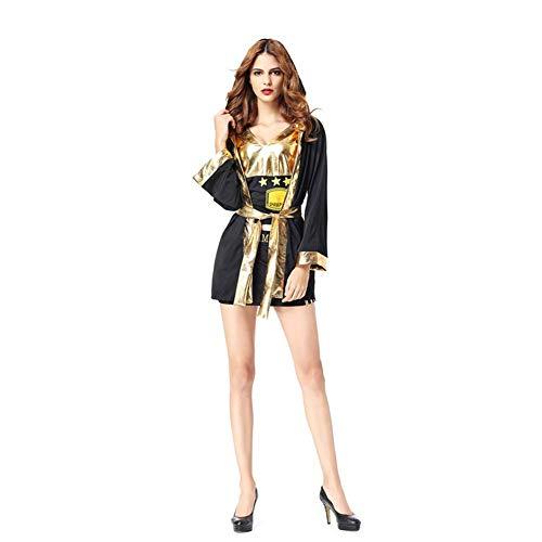 Zombie Edel Kostüm - NCTM Boxing Suit Halloween Kostüm, Umhang mit Kapuze, für Männer und Frauen, Party Cos Play (Farbe : Women)