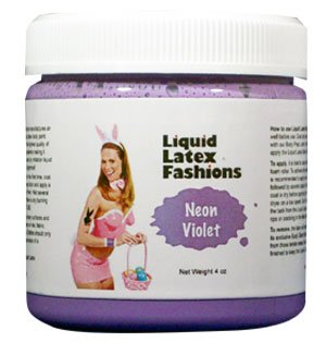 (Ammonia Free Liquid Latex Body Paint 8oz Neon Violet by Liquid Latex Fashions)